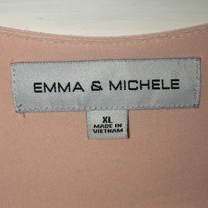 Dresses - Emma & Michele Pink Wrap Ruffle Sleeve Dress 3/$20